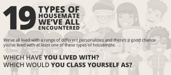 19 Types Of Housemates We've All Encountered