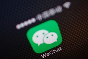 File picture illustration shows a WeChat app icon in Beijing