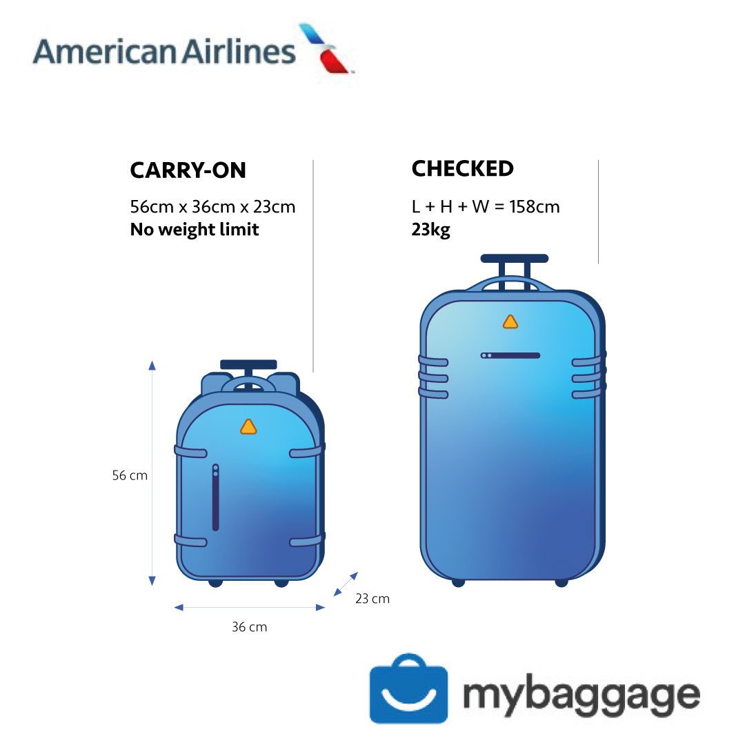 American Airlines 2020 Baggage Allowance My Baggage