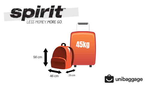cbc1eed6d0 Spirit Airlines 2018 Baggage Allowance